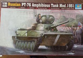 Maqueta del tanque ruso PT76