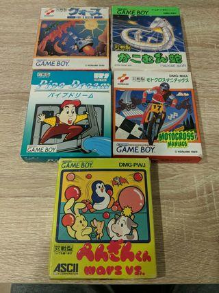 Pedido David - Pack juegos game boy (jp)