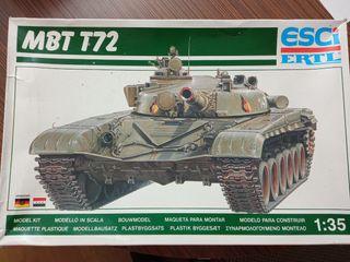 Maqueta Esci tanque ruso MBT T72