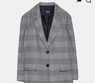 Blazer Oversize Cuadros. Zara Woman