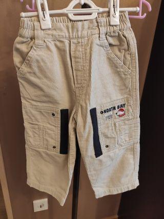 Jersey punto con dos pantalones pana