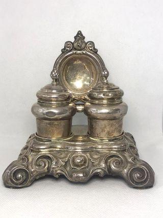 Especiero porta reloj en plata