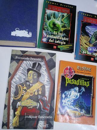 Libros misterio y terror (5x12€)
