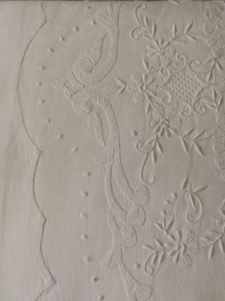 sábana y almohada de algodón 100%