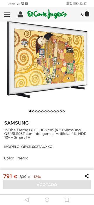televisión Samsung Qled the frame 43