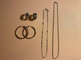 Lote joyas de plata 925