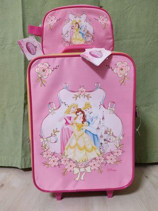 Maleta y neceser Princesas Disney