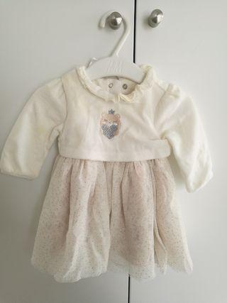 vestido niña prenatal talla 56, 1-3meses