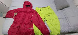 chaqueton y pantalon snow