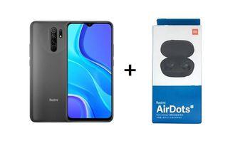 XIAOMI REDMI 9 64GB GRIS NFC + AIRDOTS S NUEVOS
