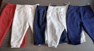 Lote pantalones de chándal,para niña de 6-9 meses.