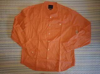 Camisa lisa naranja - Talla XL