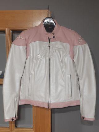 Chaqueta cuero moto mujer Alpinestars talla M.