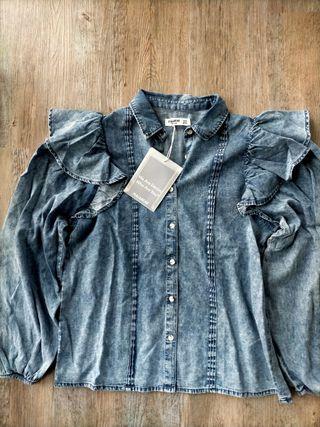 Camisa algodón volantes Pull & Bear