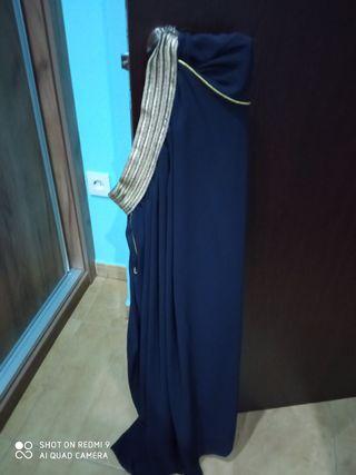 falda azul marino larga