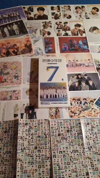 BTS Postcards más 2 láminas de +100 ministickers