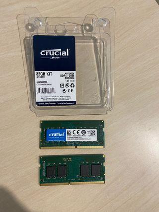 Memoria RAM 32 GB DDR4 - 2666 SODIMM