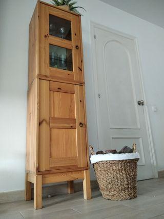 Mueble estantería madera pino maciza