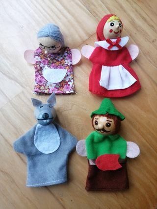 Marionetas de dedo. Caperucita roja