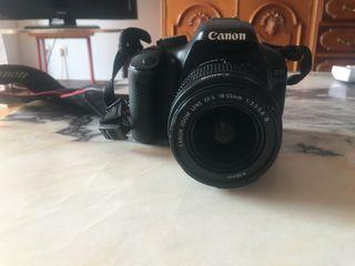 Vendo cámara Canon 550D+objetivo ef-s 18-55mm