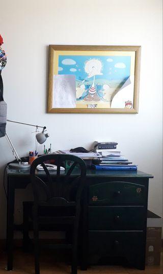 Mesa escritorio y silla