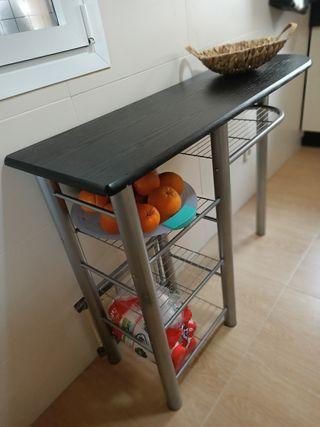 Mesa alta encimera de cocina