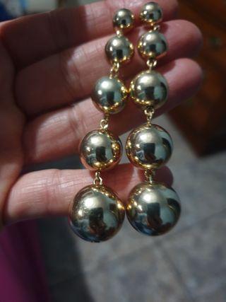pendientes de bolas,dorados