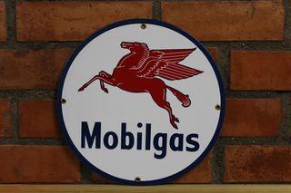 Cartel metalico Mobilgas