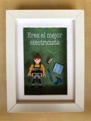 CUADRO REGALO PLAYMOBIL ELECTRICISTA