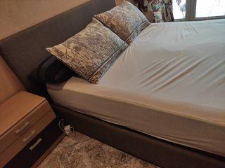 Cama con canapé abatible y cabecero
