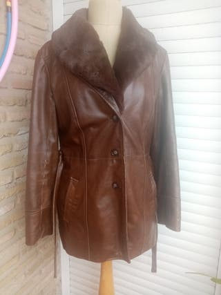 Abrigo piel ZARA talla S