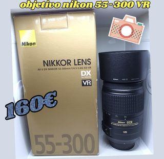 objetivo nikon 55-300 VR