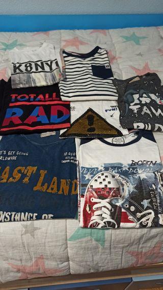 camisetas niño, talla 9/10 11/12 años