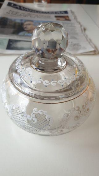 bombonera de cristal antigua