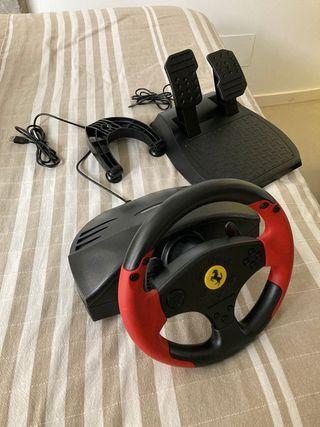 Volante y pedales para PS3 y PC Ferrari Red Legend