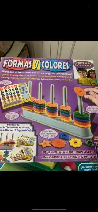 Juego mesa formas y colores