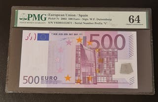 BILLETE 500 € 2002 DUISENBERG CERTIFICADO PMG