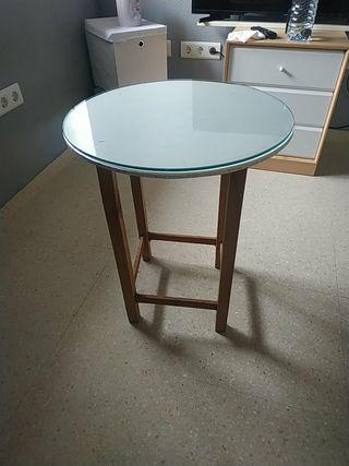 Mesa auxiliar con cristal 50*60