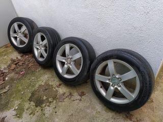 4 Llantas con neumáticos 5x100