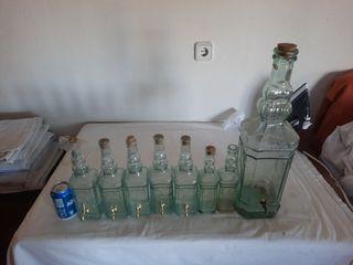 botellas de cristal para decorar.