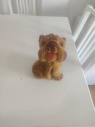 figura hucha perro terciopelo