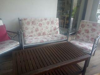 Conjunto jardín, sofa y sillones