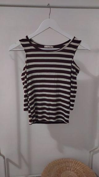 Camiseta manga larga hombros descubiertos