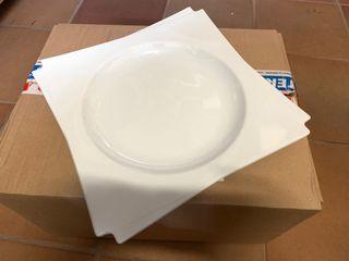 10 platos cuadrados