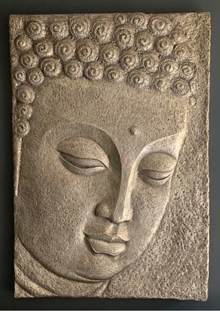 Cuadro grande Buda con relieve