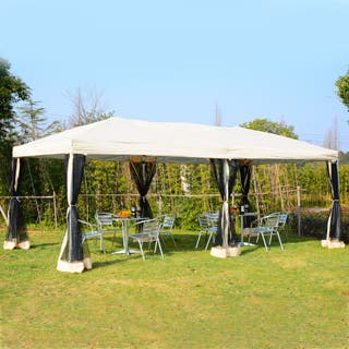 Carpa 6x3m Plegable Gazebo para Jardín Cenador