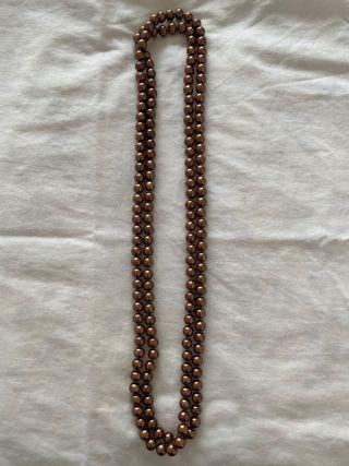 Collar perlas hecho a mano