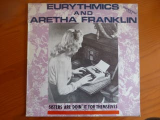 "Disco de vinilo ""Eurythmics y Aretha Franklin"""