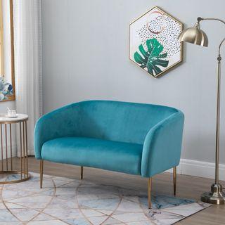 Sofá de 2 Plazas Sofá Doble Moderno con Patas