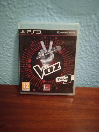 vendo juego la voz para ps3